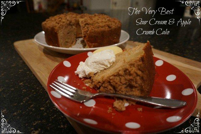 Sour Cream Apple Crumb Cake Featured