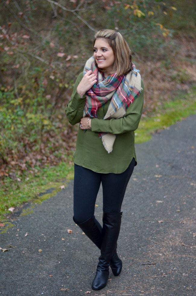 how to wear leggings - tunic top