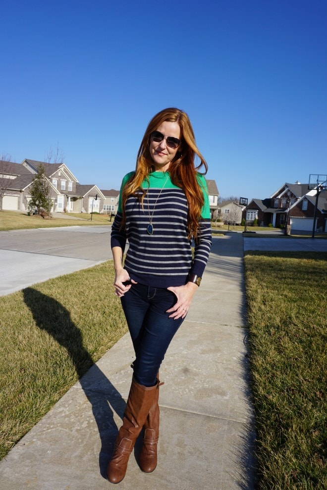 Express Jeans 41Hawthorn Striped Sweater