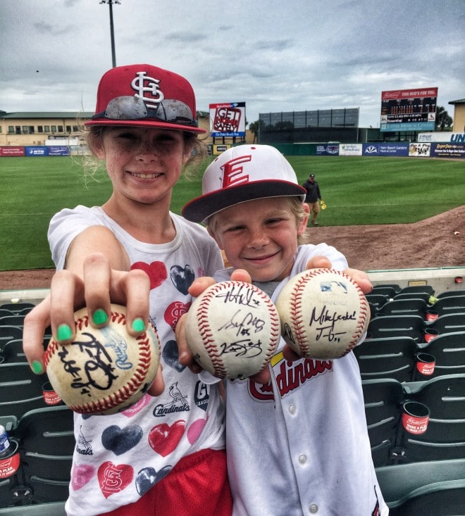 Spring Break Autographed StL Cardinals Baseballs