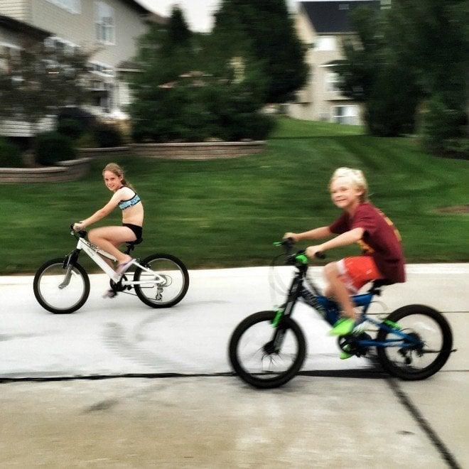 Cooper Delaney Bike Riding 2015