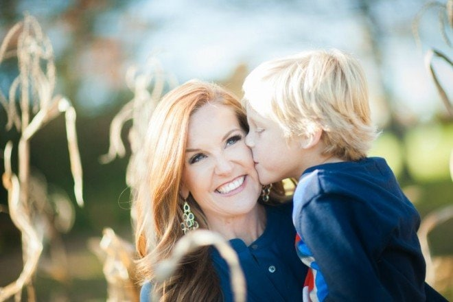 Cooper mom kiss