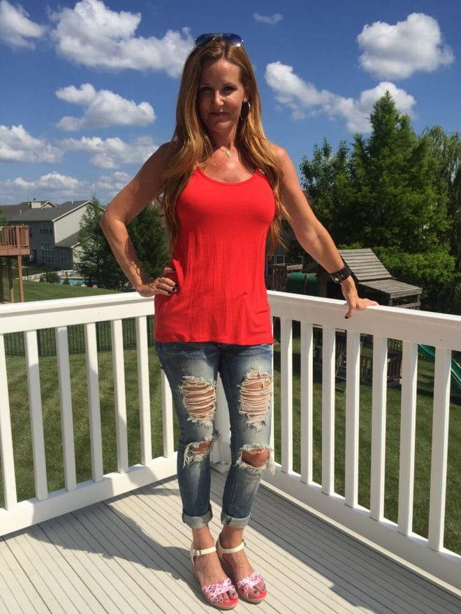 Crocs Casual - favorite distressed jeans #FindYourFun with Summer Shoe Style