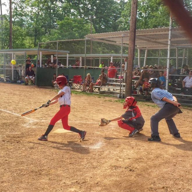 I Love To Watch You Play - The Six Words Your Child Needs To Hear - Delaney Softball Hit