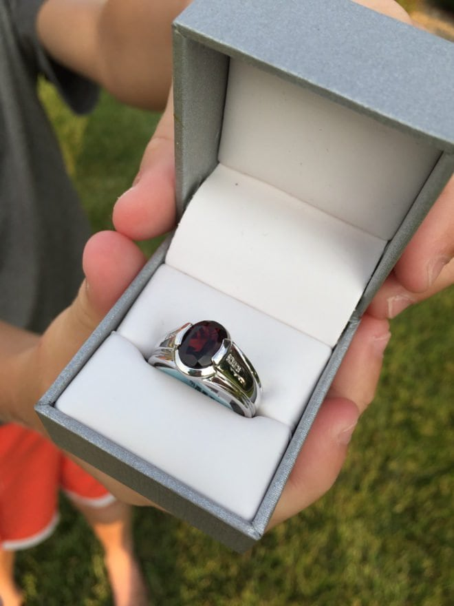 Father's Day Gift Ideas: Watches and Jewelry - Sears Mens Diamond Garnet Ring