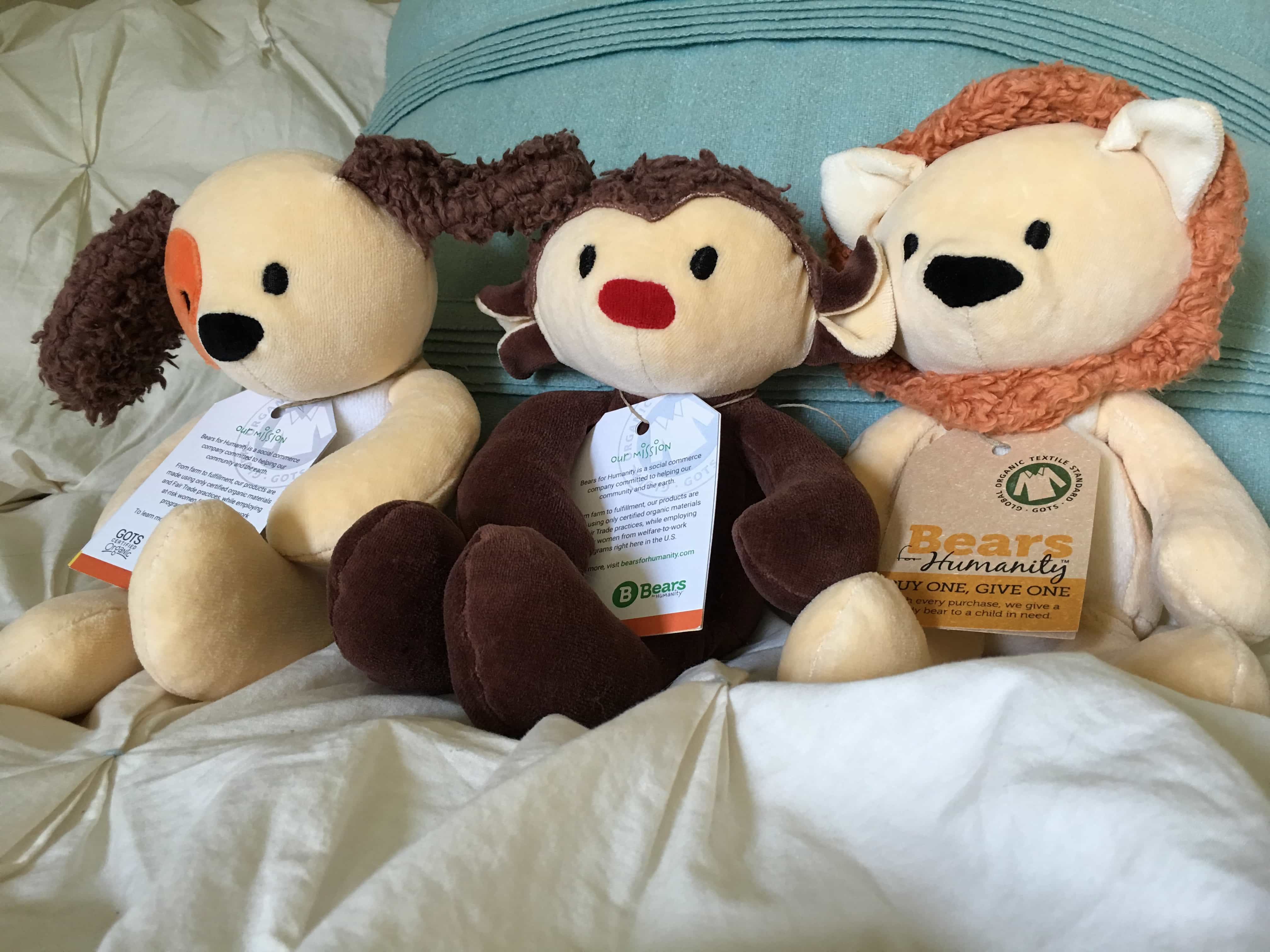 GIfts that give: Bears for Humanity Animal Pals Collection