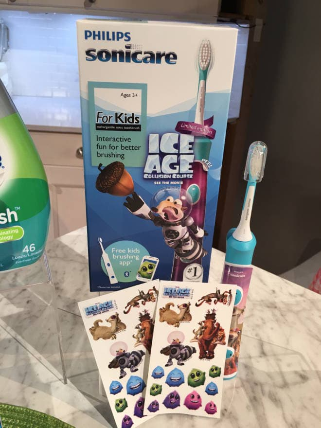 Back to School Must Haves for Lunches, Laundry and Routine: Phillips Sonicare for Kids - Ice Age Collision Course