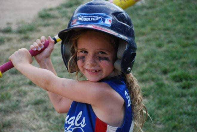 Softball Delaney Little Girl