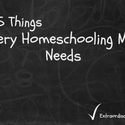 5 Things Every Homeschooling Mom Needs