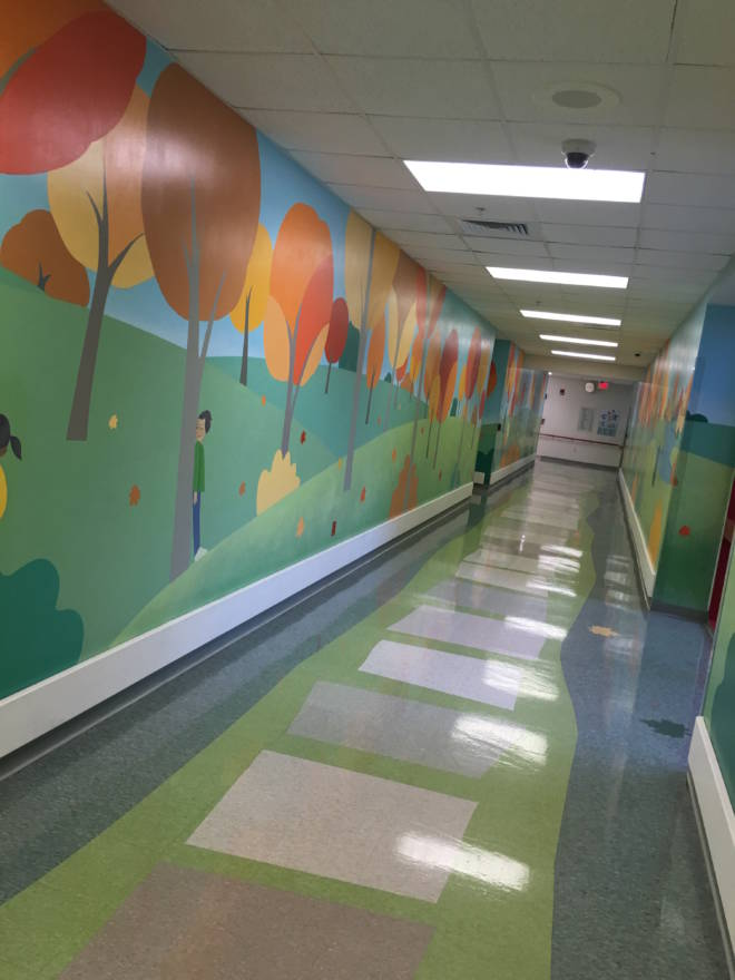 Carnival Cruise #DayofPlay at St. Jude's Hospital: Hallways