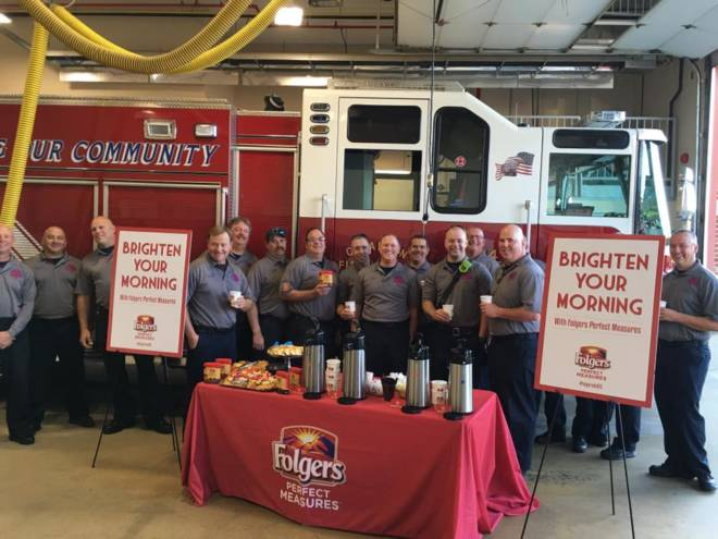 Folgers Honors Local Heroes - OFallon Fire Protection District