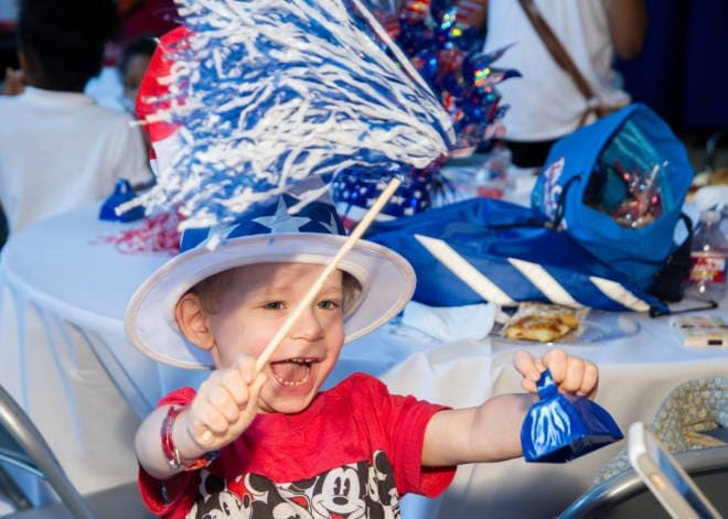 The Color of Hope is Red, White and Blue: Carnival Cruise #DayofPlay at St. Jude's Hospital