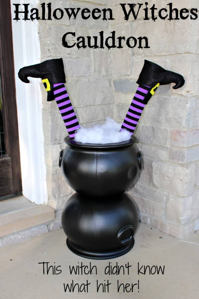7 Tips to Create Halloween Decor to Die For- Witch Cauldron - Princess Pinky Girl