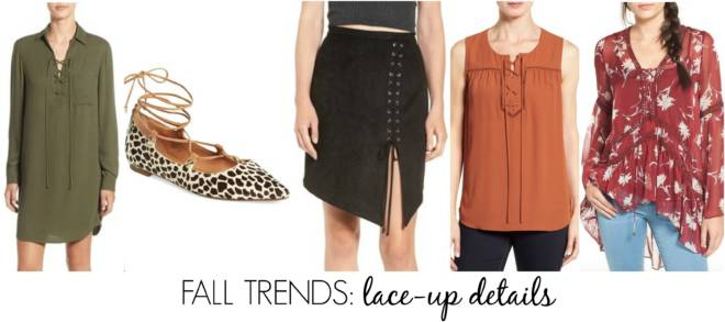 must-have fall trends - lace-up details