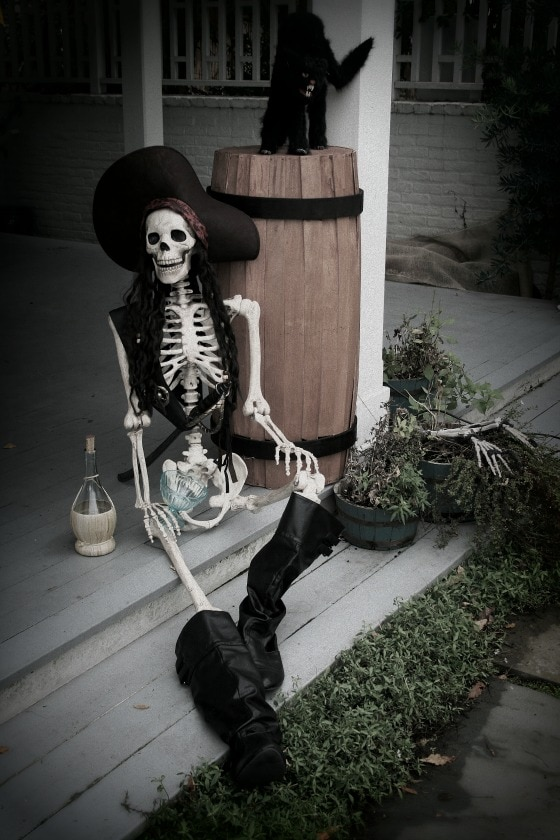 7 Tips to Create Halloween Decor to Die For - A Pirate's Curse - The Glamorous Housewife