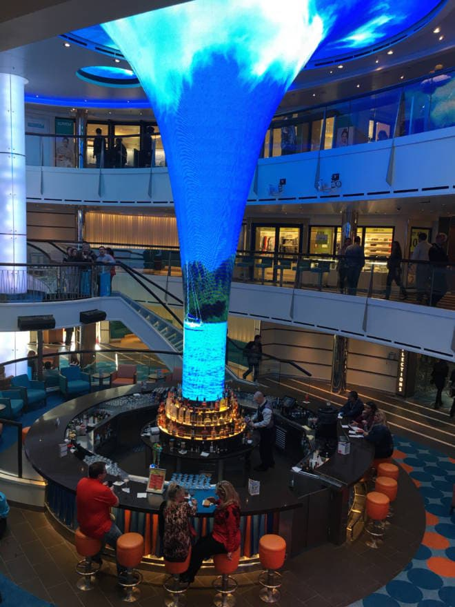#HelloVista Introducing the Carnival Vista to the World with Carrie Underwood - LED Atrium
