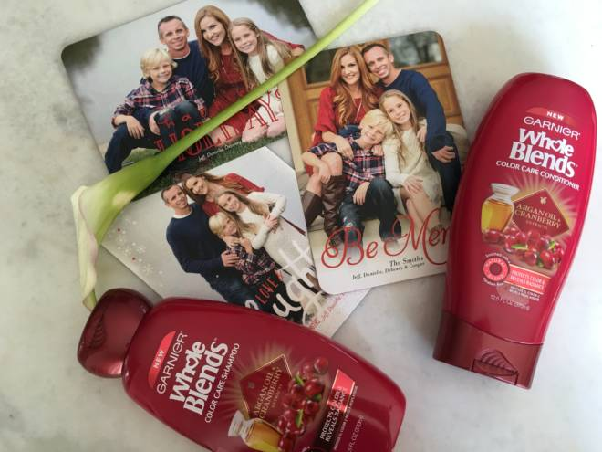 Take those Pictures: An Annual Holiday Tradition - Garnier Argan Oil and Cranberry Extract Whole Blend