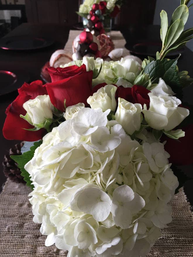 Host an Easy and Fun Girlfriends' Holiday Gift Exchange - Make your own Flower Arrangements