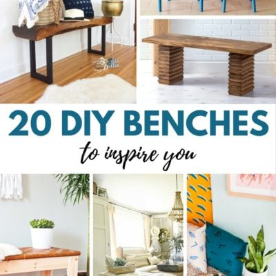 20 DIY Benches to Inspire You