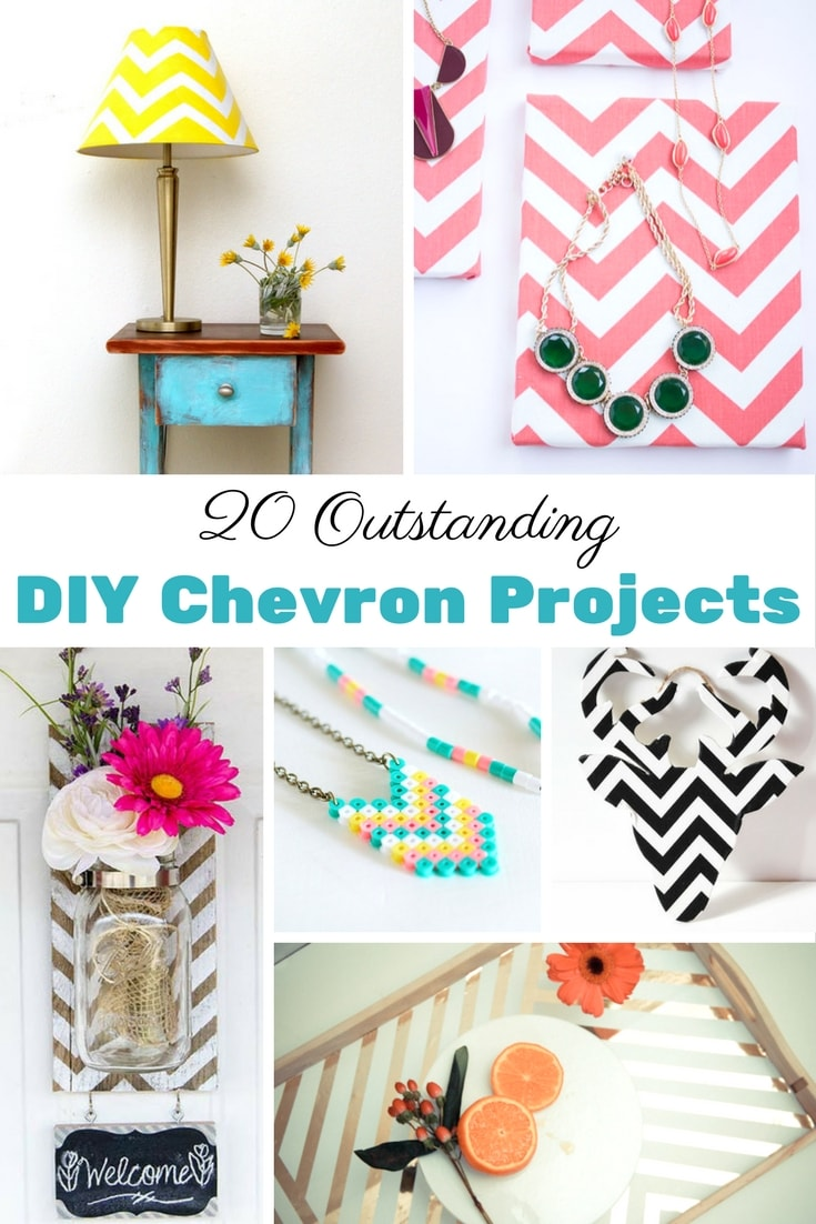 20 Outstanding DIY Chevron Projects - LOVE the serving tray and pallet mason jars!