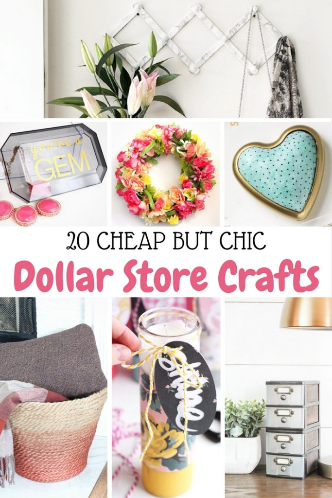 20 Cheap but Chic Dollar Store Crafts (I LOVE the mirrored jewelry hangers!)