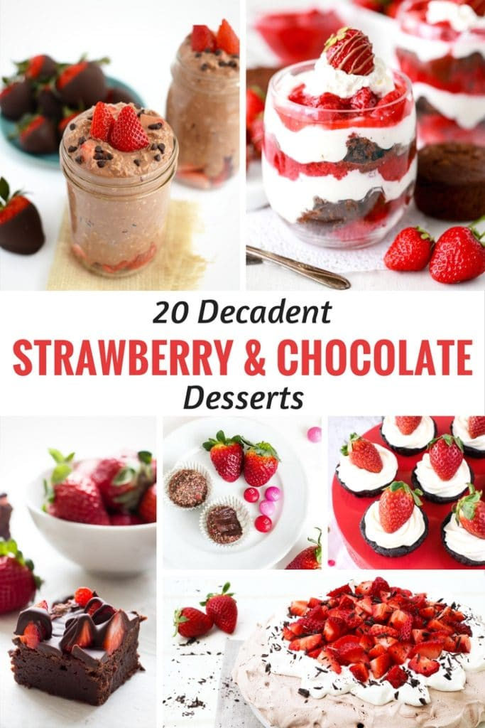 20 Decadent Strawberry and Chocolate Desserts