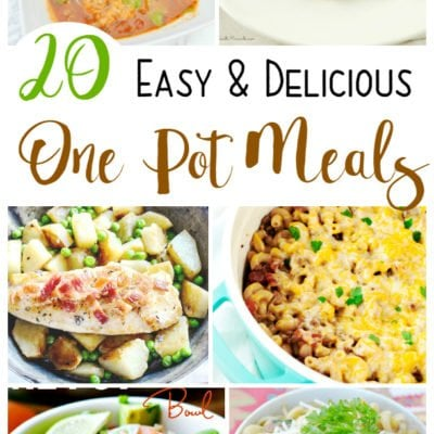 20 Easy and Delicious One Pot Meals