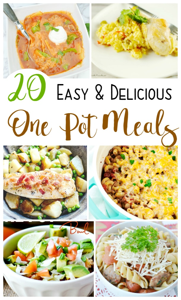 20 Easy and Delicious One Pot Meals (check out the lemon shrimp pasta and the creamy spinach chicken!)