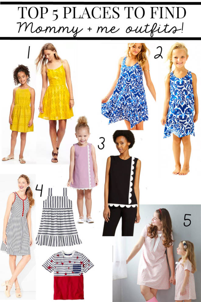 5 Places to Shop for Mommy and Me Outfits