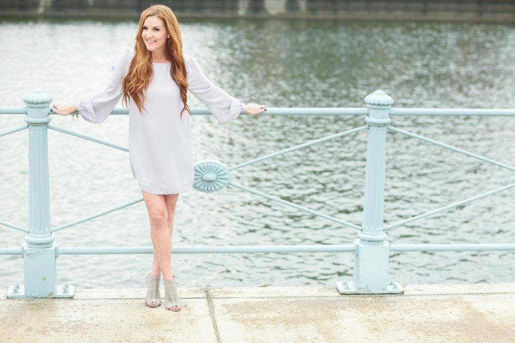Wear Grey this Summer #DressForSummer - Light Grey Shift Dress from Lulus