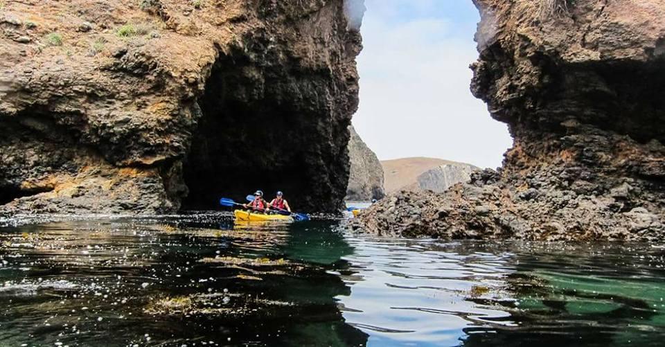 Kayaking in the Channel Islands in Santa Barbara