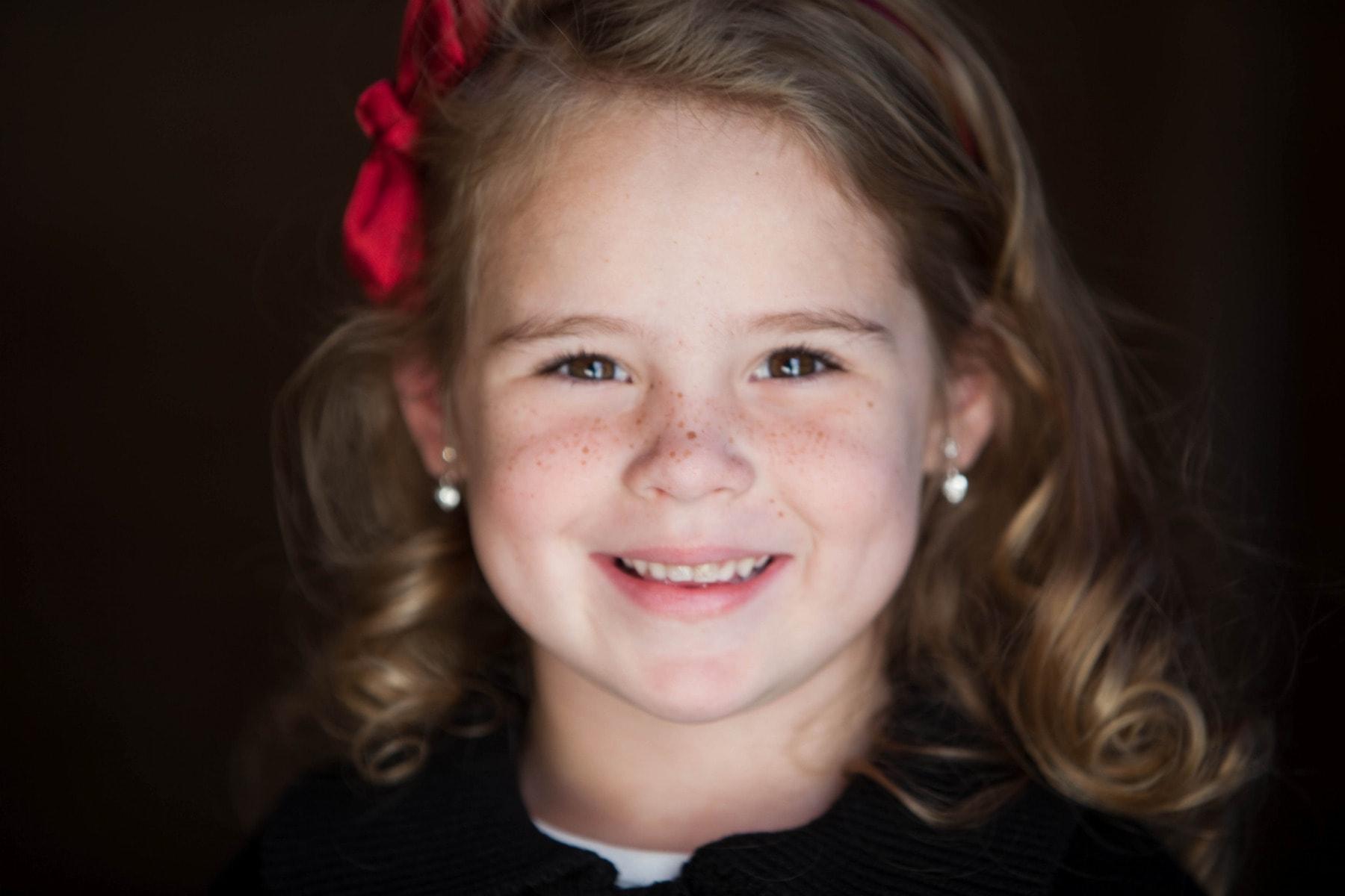 Delaney Little Girl Brown Eyes