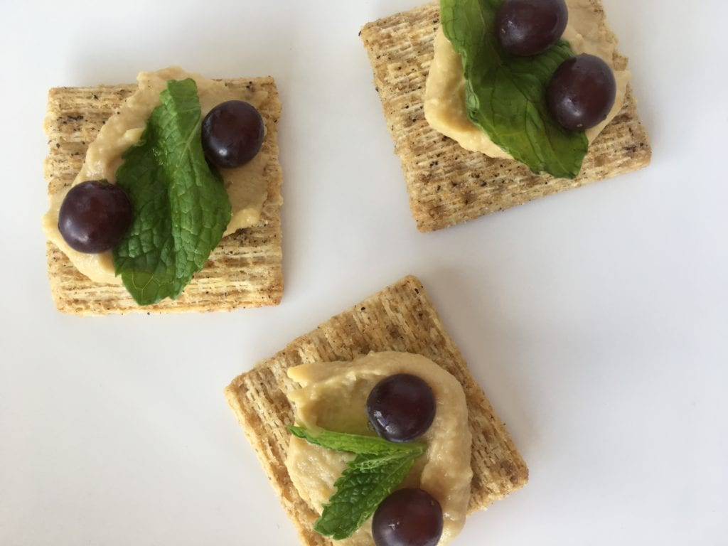 Whole Grain Back to School Snacks Your Kids Will Love - From the sweet to the salty...a little bit of goodness for every taste....Triscuit Hummus and Mint Snack