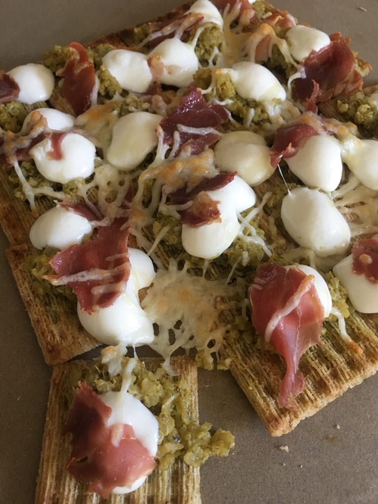 Whole Grain Back to School Snacks Your Kids Will Love - From the sweet to the salty...a little bit of goodness for every taste....Triscuit Prosciutto & Parmesan Pull Apart Pizza