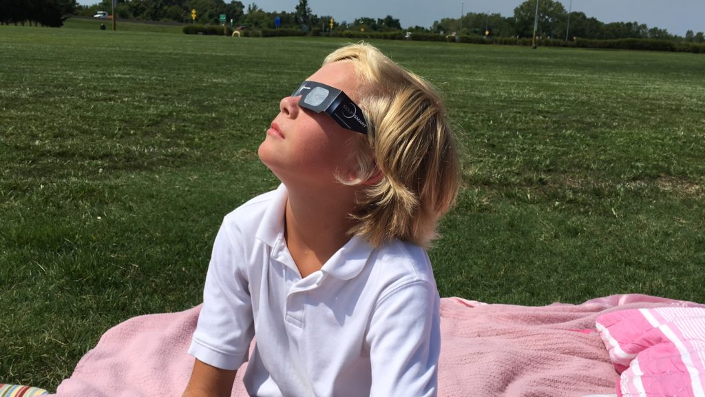 Experiencing the Solar Eclipse Path of Totality - Cooper was mesmerized