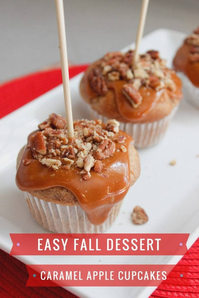 Fall Dessert Recipe: Caramel Apple Cupcakes | PrettyExtraordinary.com