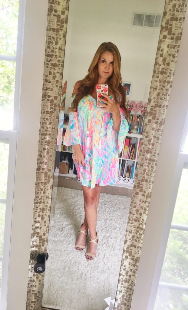 If I Could Only Have One Dress....Lilly Pulitzer Allana Cold Shoulder Dress | PrettyExtraordinary.com