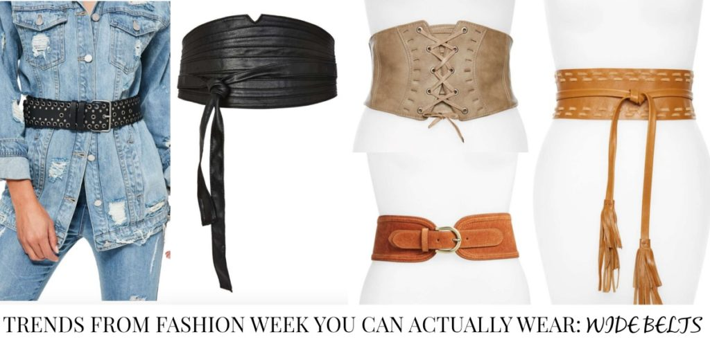Trends from Fashion Week You Can Actually Wear - Wide Belts