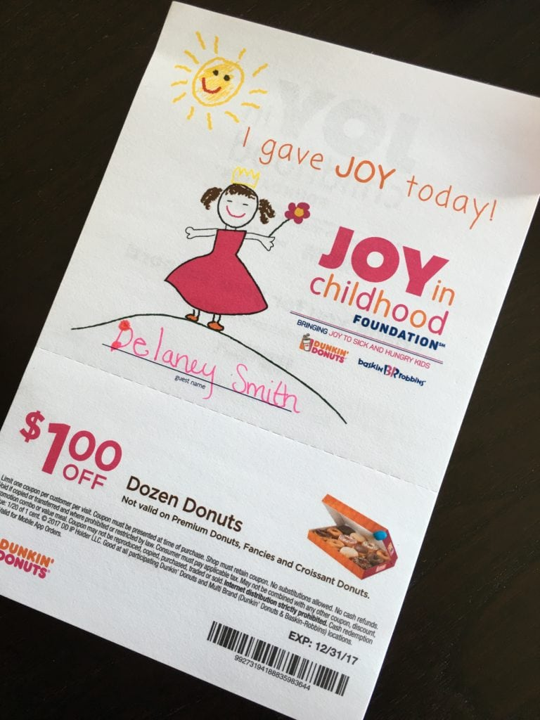 The Joy of Childhood - Giving to Kids in Need - Dunkin' Donuts
