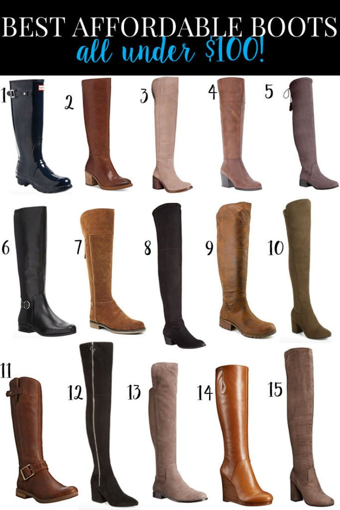 Knee High and Over the Knee Boots Under $100 - there are 15 of them!!