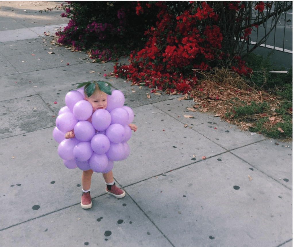 Cute Last-Minute Costume Ideas for Toddlers - bunch of Grapes