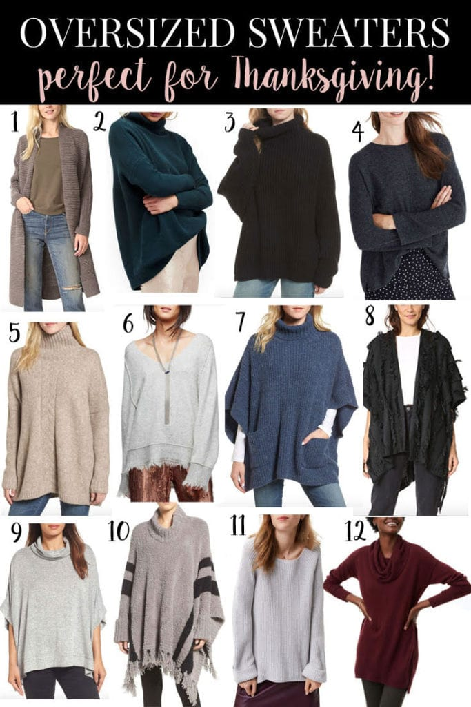 Oversized Sweaters Perfect for Thanksgiving // PrettyExtraordinary.com