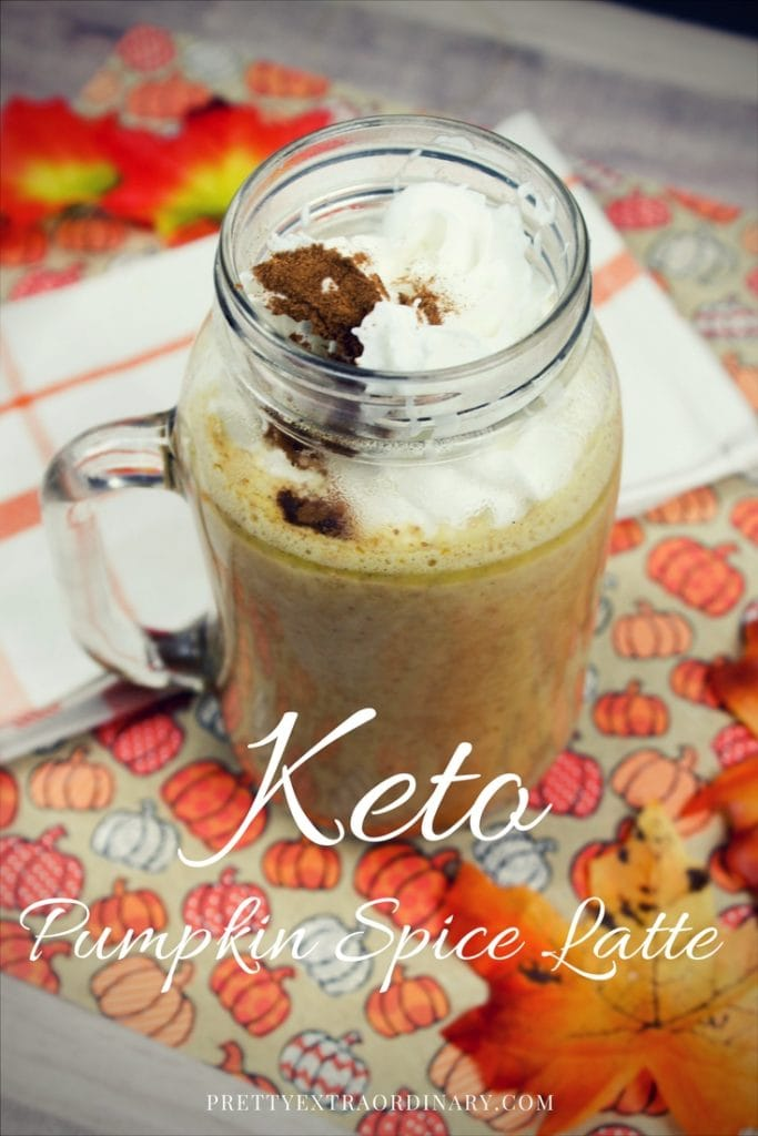 Keto Pumpkin Spice Latte: Easy Recipe - so good. You can do it. // PrettyExtraordinary.com