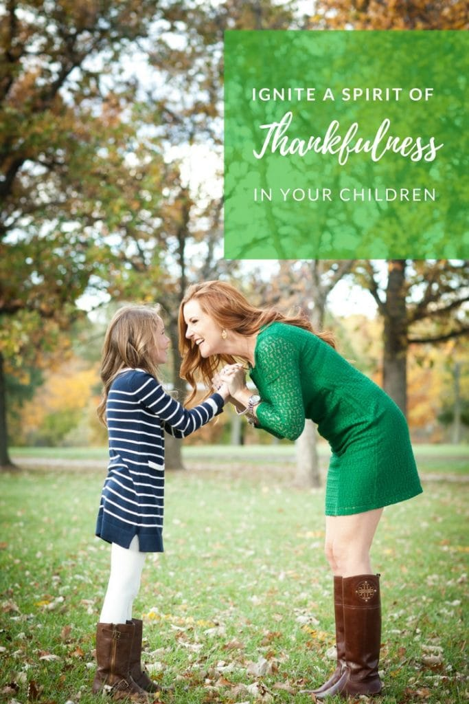 How to Ignite a Spirit of Thankfulness in Kids // PrettyExtraordinary.com