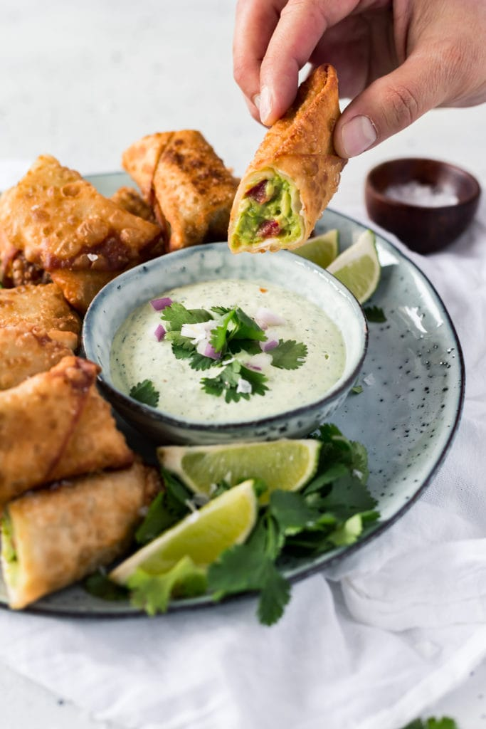 Easy Game Day Appetizer: Avocado Egg Rolls - absolutely delicious.