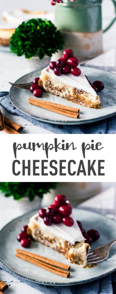 Amazing Dessert: Pumpkin Pie Cheesecake (I promise you can make it!) // PrettyExtraordinary.com