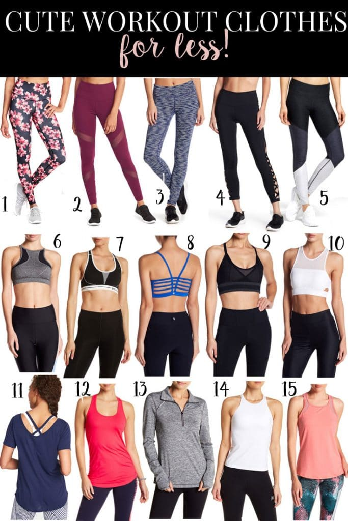 cutest inexpensive workout clothes! You can't go wrong with all these finds under $50!