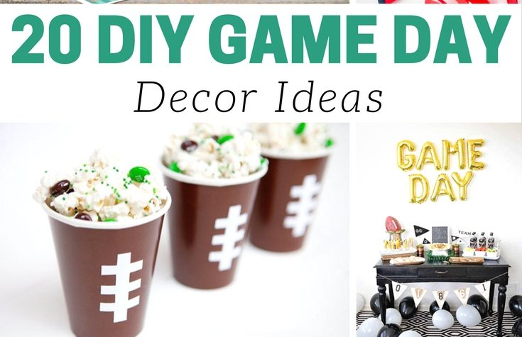 20 DIY Game Day Decor Ideas - so many great ones AND lots of DIY :)