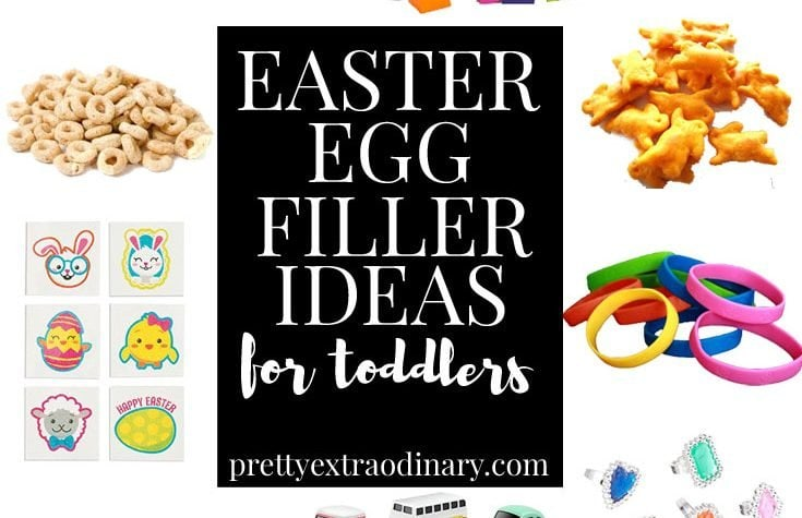 Cute Easter Egg Filler Ideas for Toddlers - love the barrettes and treats!