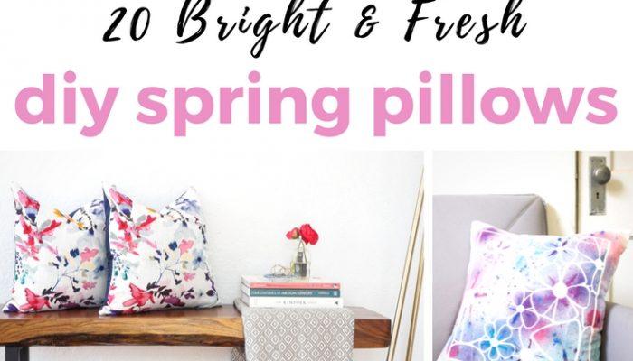 DIY Spring Pillows You Can Make